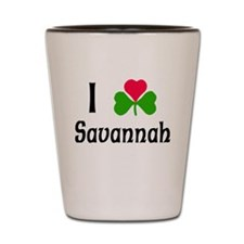I Love Savannah Shot Glass