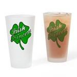 Shamrock Irish Princess Drinking Glass