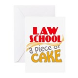 Law School - Piece of Cake Greeting Cards (Pk of 1
