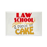 Law School - Piece of Cake Rectangle Magnet
