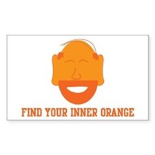 Mr. Tony Inner Orange Rectangle Decal