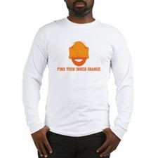 Mr. Tony Inner Orange Long Sleeve T-Shirt