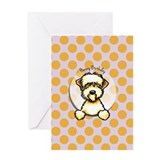 Funny Wheaten Terrier Birthday Greeting Card