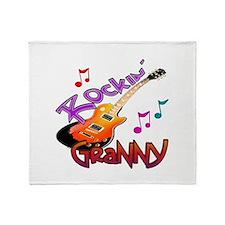 ROCKIN GRANNY Throw Blanket