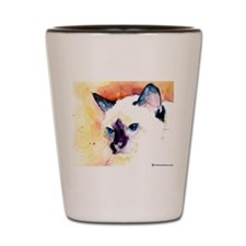 Siamese Cat Gifts Shot Glass