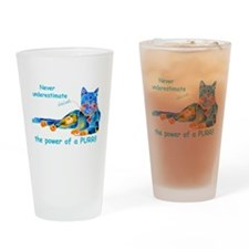 Purr Kitty Drinking Glass