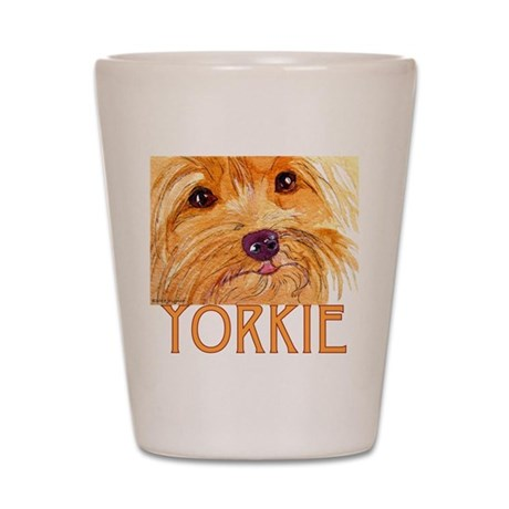 Yorkie Shot Glass