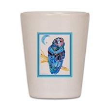 Owl in a Border 1 Shot Glass