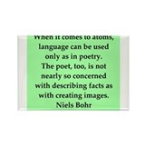 Niels Bohr quotes Rectangle Magnet