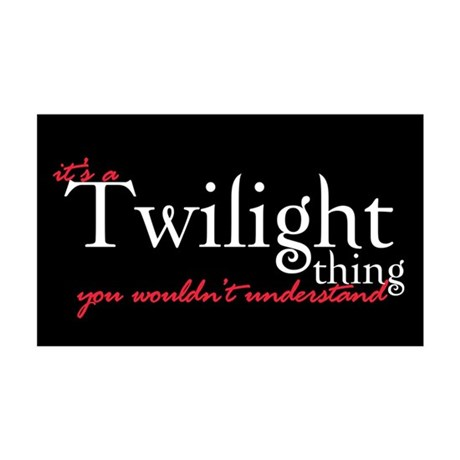Twilight Thing 35x21 Wall Peel