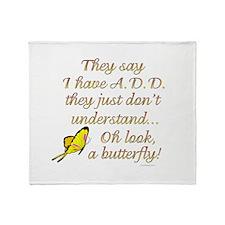 ADD Butterfly Throw Blanket