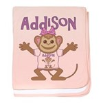 Little Monkey Addison baby blanket
