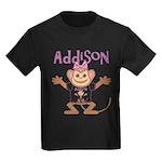 Little Monkey Addison Kids Dark T-Shirt