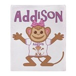 Little Monkey Addison Throw Blanket