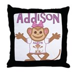 Little Monkey Addison Throw Pillow