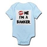 Kiss Me I'm A Banker Infant Creeper