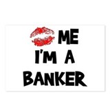 Kiss Me I'm A Banker Postcards (Package of 8)