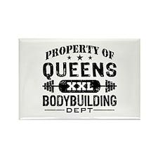 Property of Queens Bodybuilding Rectangle Magnet