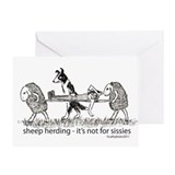 Sheep Herding Sissies Greeting Card