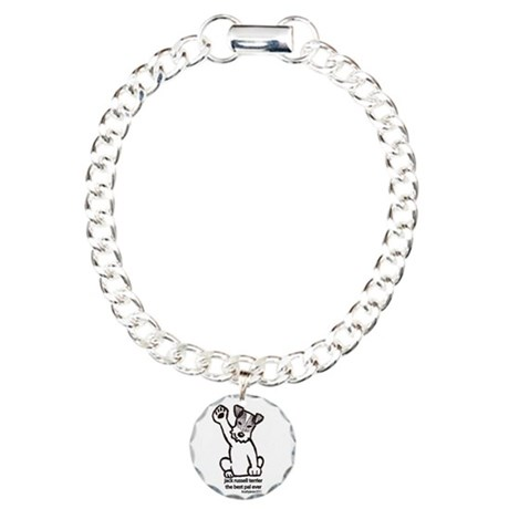 Jack Russell Greeting Charm Bracelet, One Charm