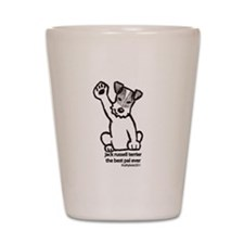 Jack Russell Greeting Shot Glass