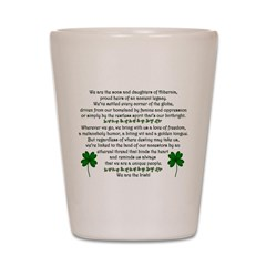 We Are the Irish Shot Glass