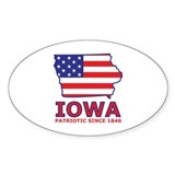 IA USA Flag Map 2 Decal