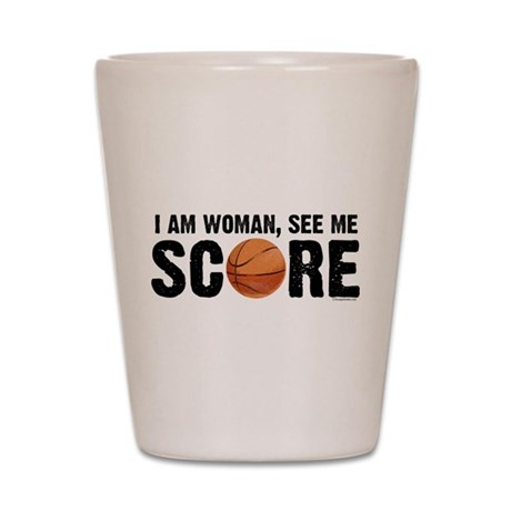 See Me Score Basketball Shot Glass