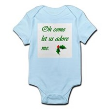 """Oh Come Let Us Adore Me"" Col Onesie"
