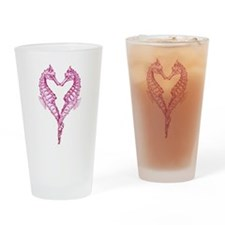 Seahorses heart Drinking Glass