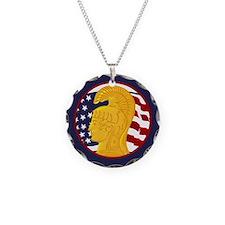 WAC Veteran Necklace Circle Charm