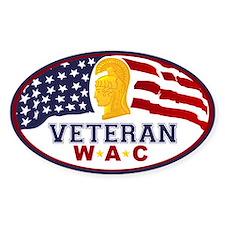WAC Veteran Sticker (Oval)