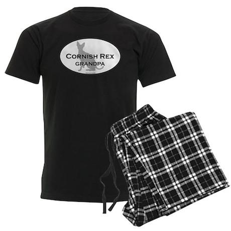 Cornish Rex Grandpa Men's Dark Pajamas
