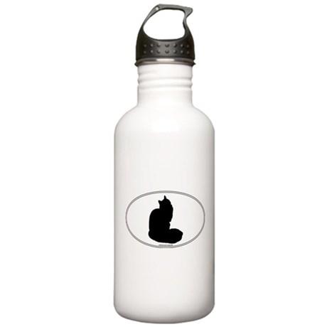 Maine Coon Silhouette Stainless Water Bottle 1.0L