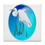 Great Egret Tile Coaster