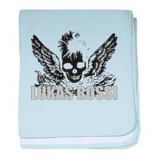 The Lukas Rossi Skull Logo Se baby blanket