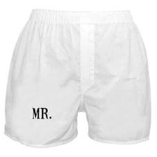 Cute Mr mrs Boxer Shorts