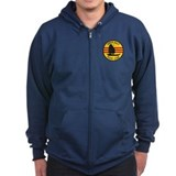 Tonkin Gulf Yacht Club Zip Hoodie (Dark)