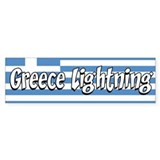 Greece Lightning Bumper Sticker