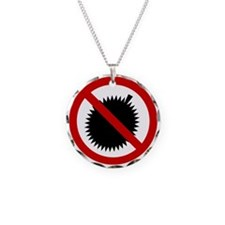 NO Durian Thai Sign Necklace Circle Charm