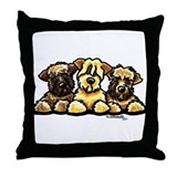 Wheaten Terrier Cartoon Throw Pillow