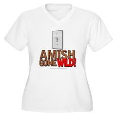Amish Gone Wild Women's Plus Size V-Neck T-Shirt