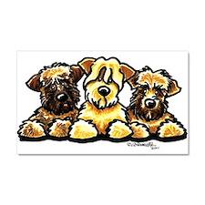 Wheaten Terrier Cartoon Car Magnet 20 x 12
