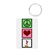 Peace Love Gymnastics Keychains