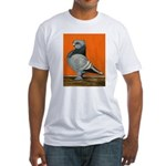 Blue Blondinette Pigeon Fitted T-Shirt