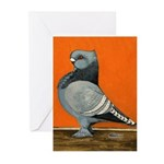 Blue Blondinette Pigeon Greeting Cards (Pk of 10)
