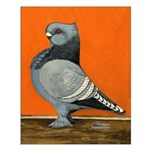 Blue Blondinette Pigeon Small Poster