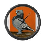 Blue Blondinette Pigeon Large Wall Clock