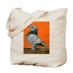Blue Blondinette Pigeon Tote Bag