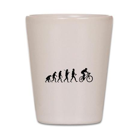 Evolution Cycling Funny Shot Glass